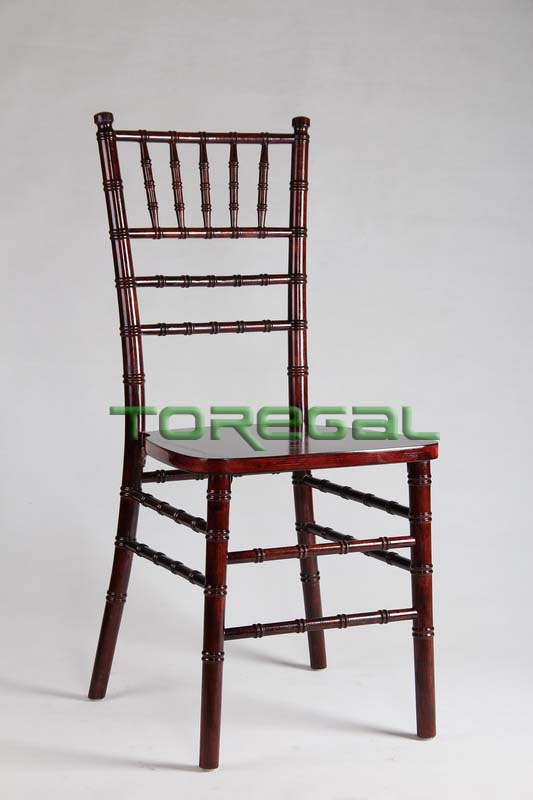 Chinese Locust Tree Catering Equipment Solid Wood Chiavari Chair