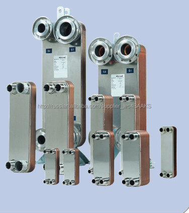 Copper brazed plate heat exchanger for various industries
