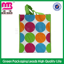 Recycled custom promotional pp laminated fabric non woven bag shopping