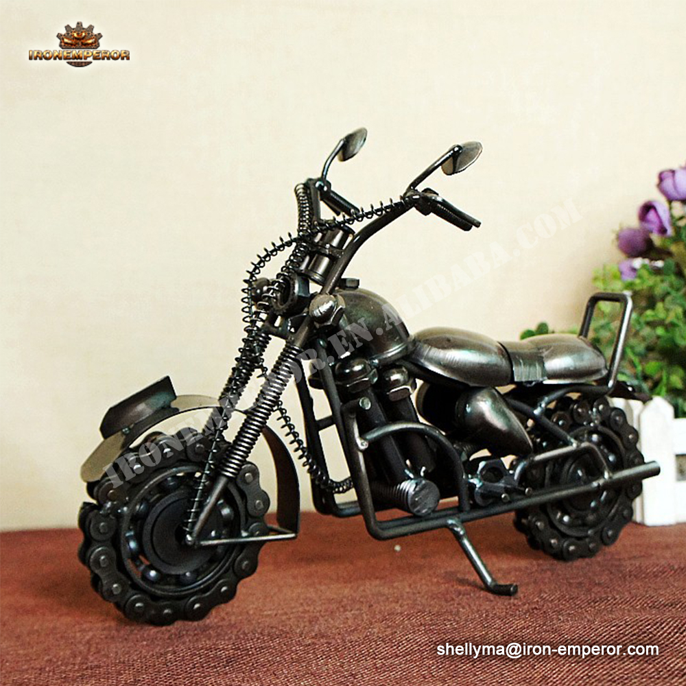 Motorcycle Model Decoration vintage car model handmade crafts for home decoration
