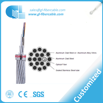 Composite Overhead G652d Opgw Ground Wire Fiber Optical Cable