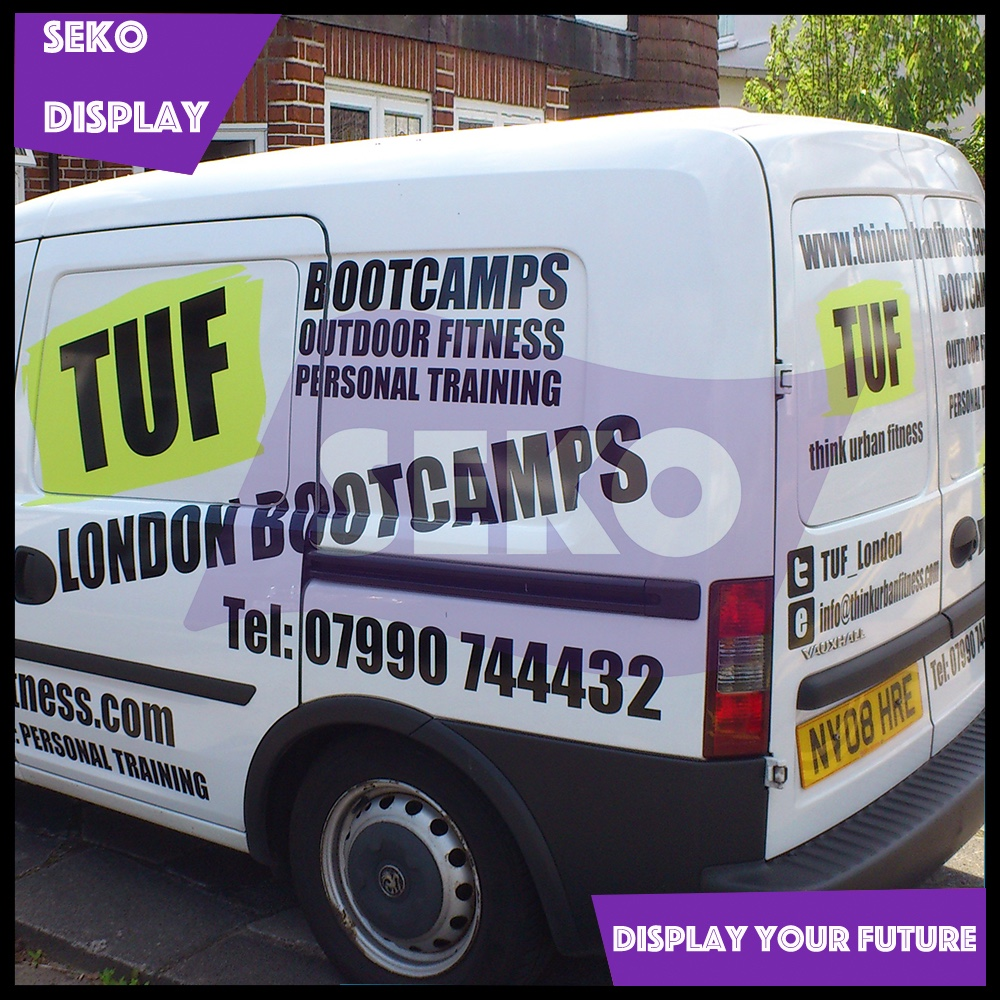 Advertising van full body wrap sticker solvent ink printing