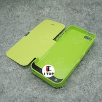 High Quality 4200mAh Smart Battery Case for iPhone 5 5S 5C with Flip Cover