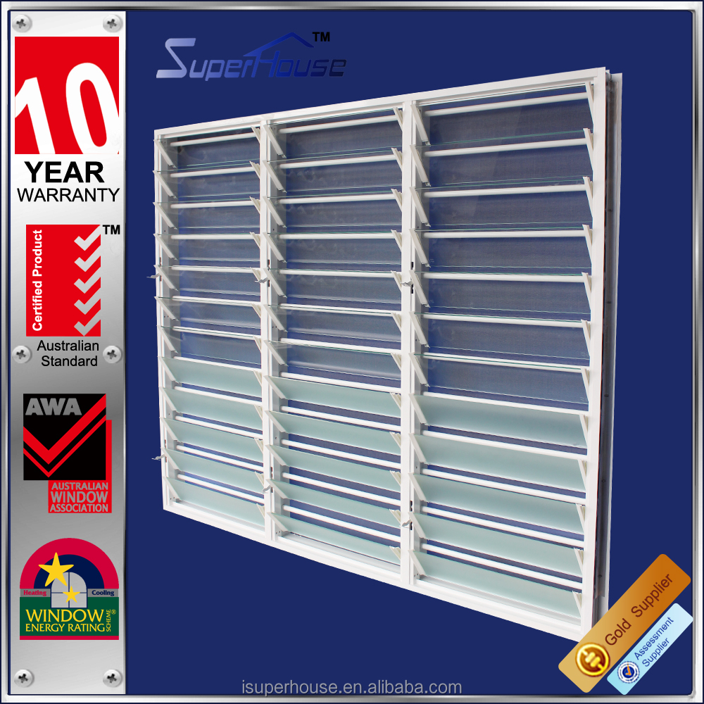 hot selling louvre window with security bar