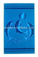 Yarn dyed jacquard beach towel
