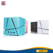 New magic cube 7 LED Light flashing wireless bluetooth speaker with fm radio