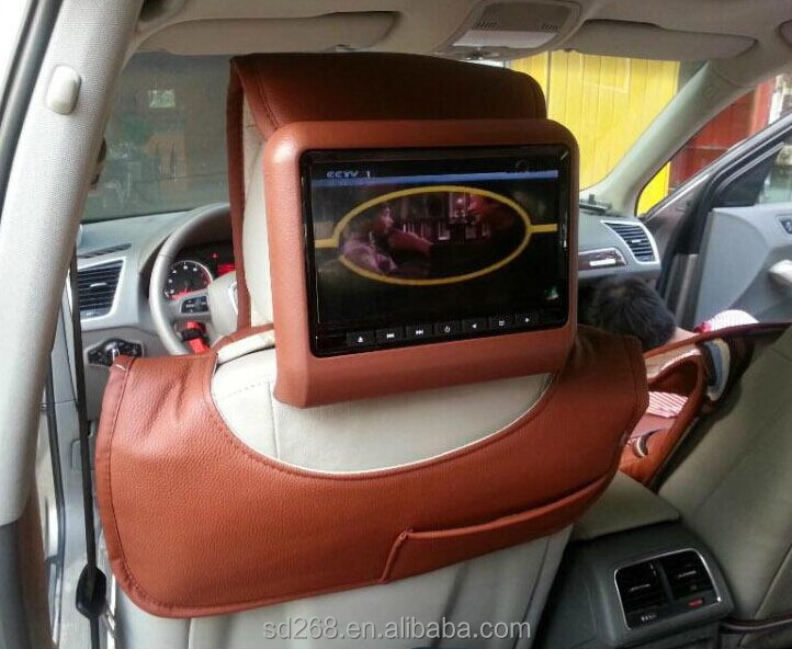 China 9 inch hottest game+av car headrest dvd+lcd monitor