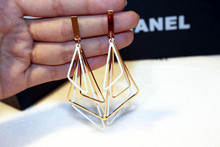 Wholesale lastest design are design earrings vintage geometric charm square earrings for women Moonso AE5106