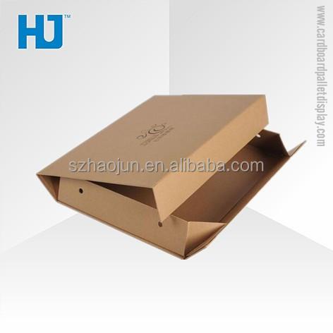 Custom design brown kraft paper box, new style gift packaging