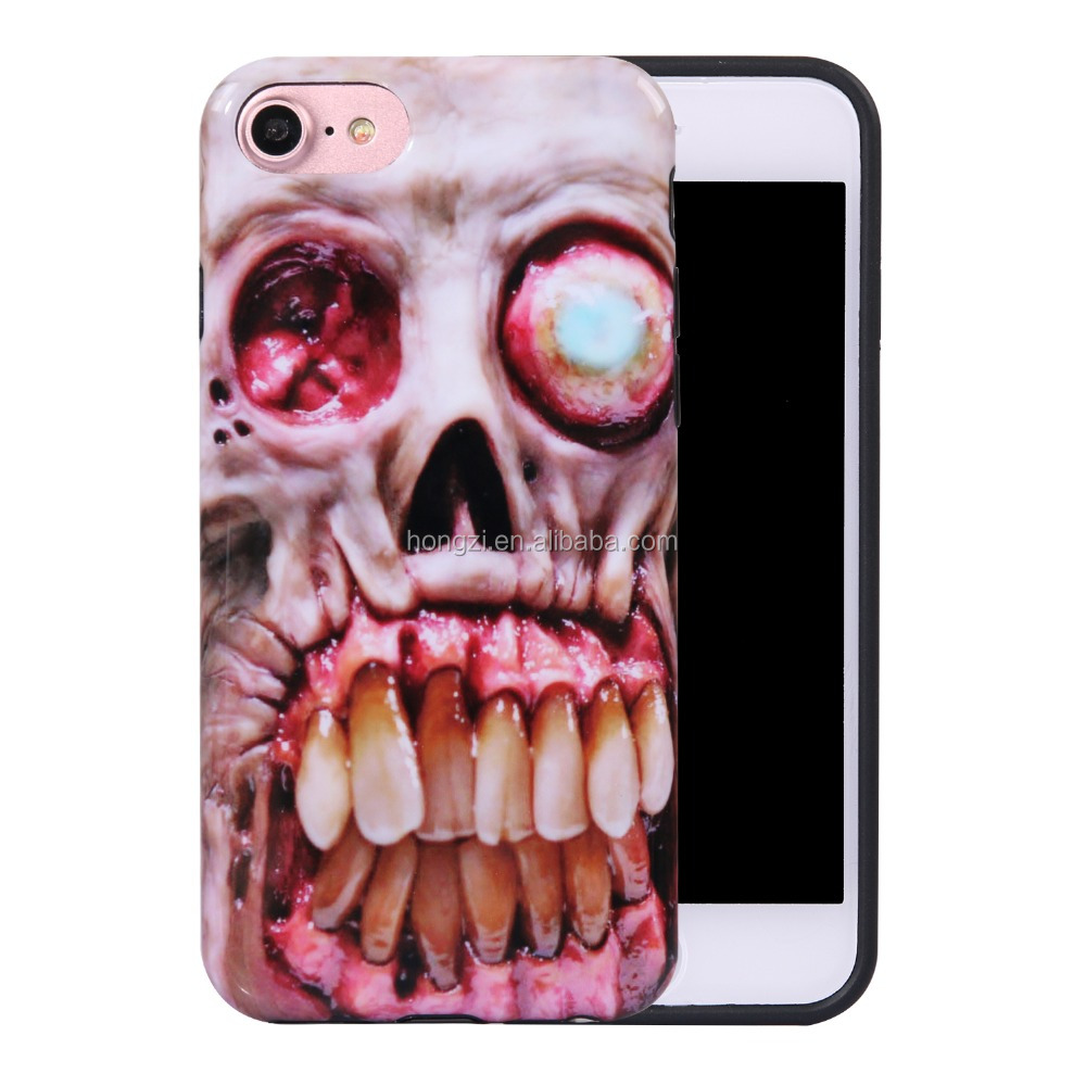 Slim Soft TPU terrorist Skull phone Cases For Iphone 6 Case Cute 3D cartoon Case Cover soft tpu cover
