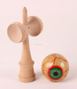 Colorful Kendama Toy With Sticky Paint For Kendama Cup & Ball Game