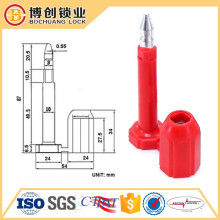 BS8102 Tamper Evident Container Security Bolt Seals and container door lock seal