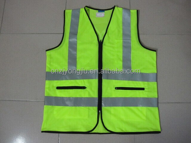 2015 new style mesh and plain fabric safety vest reflective clothing 3M reflective tape