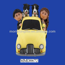 Hot Selling Resin Car Design Funny Wedding Decoration