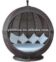 outdoor apple shape rattan lounge