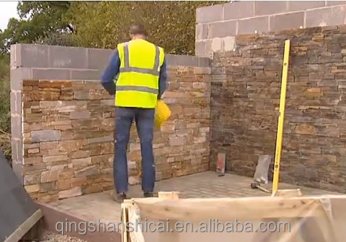 exterior cement concrete ledge wall natural stone veneer panels ...