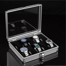 Deluxe transparent aluminum watch case