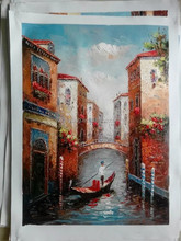 Pictures Art Famous Handpainted Buildings Painting Home Decor