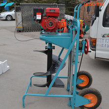 Portable Gasoline Soil Auger Hole Digger Ground Drilling Machine For Sale