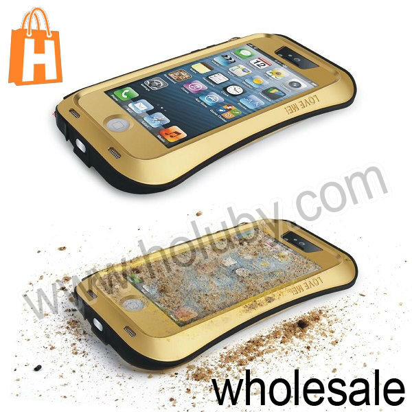 LOVE MEI Aluminum Waterproof Case for iPhone 5 5S 5C, For iPhone 5 5C Love Mei Bumper Waterproof Protective Case