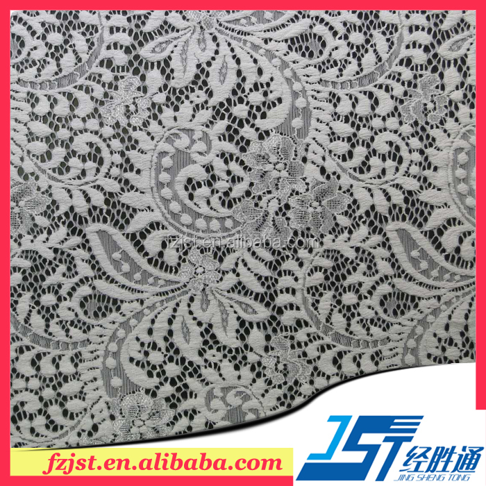 Beautiful shiny big lace fabric bandung wholesale