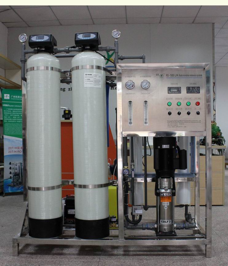 ISO CE approved 500lph water purify active carbon filter system for pure water