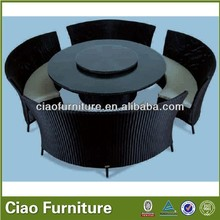 Hotel rattan dinning ruond table set