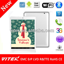 Best Bargain 7.85 inch 3G Dual Core Low Price Smart Pad