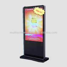 55 inch Outdoor android netwotk advertising display, digital floor stand video advertising screens advertisement player board