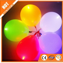 Flying helium LED balloon with light inside