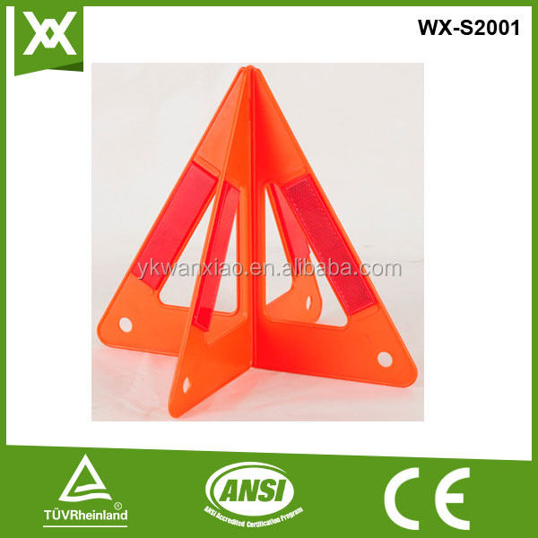 E Mark safety reflector warning triangle,green triangle for safety