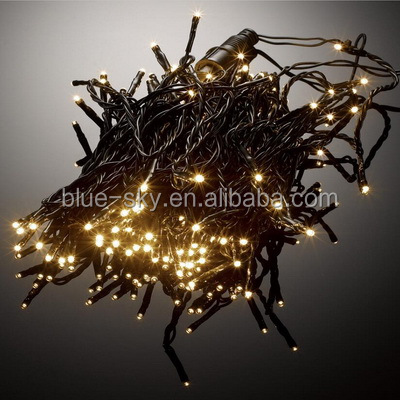 Bright Warm White LED String Light Flexible Black Cable Christmas Indoor Outdoor Decoration Light