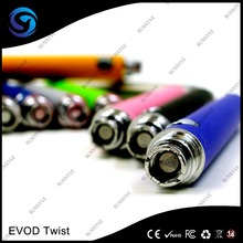 Top sevice and fast shipping 3.3V--4.8V Variable Voltage EVOD Twist battery 510/EGO thread E-cigarette