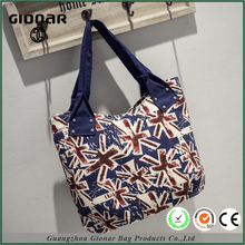 Christmas Gift College Student Canvas British Flag Printing Shoulder Bag Free Handbag Catalog