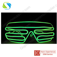 green eyeglass design and Hot Selling Customoized Festival Ornament Led Eyeglasses For Party