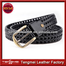 Fashion stretch elastic woven canvas belt with pin buckle