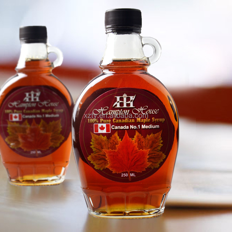 250ml maple syrup glass bottle,glass bottle for maple syrup