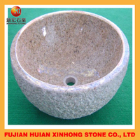 Hot sale natural stone carved bathroom granite water bowl