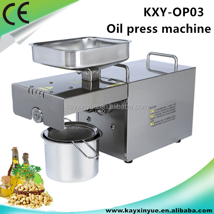 Stainless steel small home mini oil press machine/oil expeller