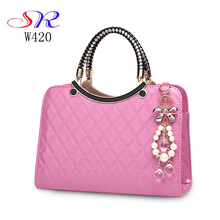 W420 Online shopping fahsion lady's PU delicate handbag beautiful girl jewelry shoulder women bag handbag Guangzhou