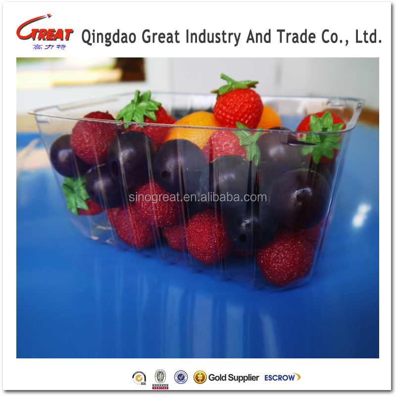Disposable Clear Blister Plastic Food&Fruit Packaging Tray 1000 Gram