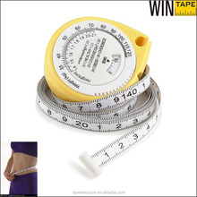 Custom mini medical body tape measure with bmi calculator for promotion