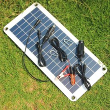 BUHESHUI Semi-flexible 18V/5V 10.5W Portable Solar Panel Charger For 12V Car Boat Motor Battery Charger DIY Solar System