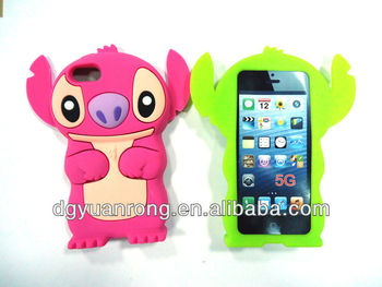 silicon case for iphone 4G, cute cat fashion silicone case