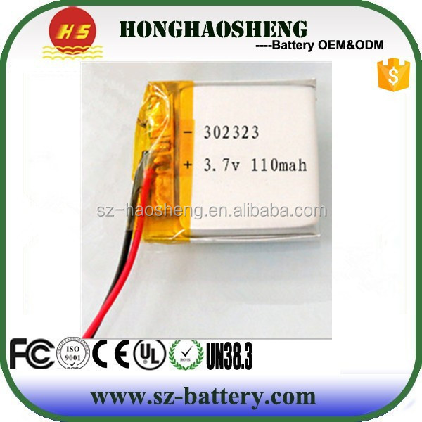 Wholesale 032323 rechargeable 3.7v li ion polymer battery 110mah