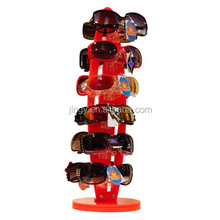 multi layers red acrylic sunglasses display kiosk