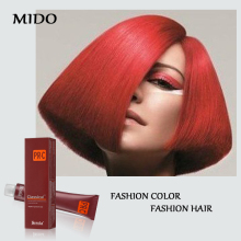 Bright color low ammonia permanent purple red hair dye free sample of hair dye