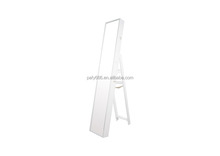 Home Furniture floor stand wooden full length mirror jewelry cabinet with drawers