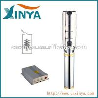 XINYA 4inch 72V dc Stainless steel impeller solar powered solar submersible deep well water pump system (4SPSC23/21-D72/1300)