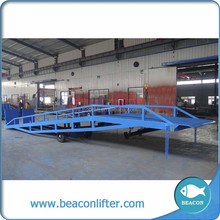 mechanical mobile truck ramp material truck ramp dock leveler yard ramp